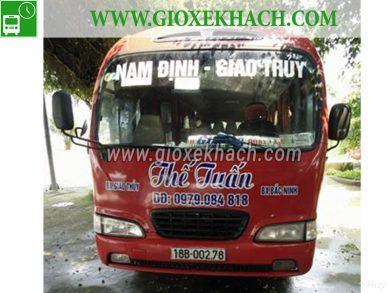Xe khách tuyến Quất Lâm - Giao Thủy đi Bắc Ninh nhà xe Thế Tuấn
