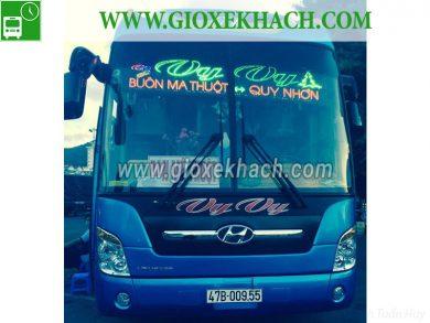 Xe khách tuyến Buôn Ma Thuột - Đắk Lắk đi Quy Nhơn nhà xe Vy Vy