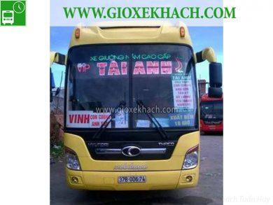 Xe khách tuyến Con Cuông - Nghệ An đi Sài Gòn nhà xe Tài Anh