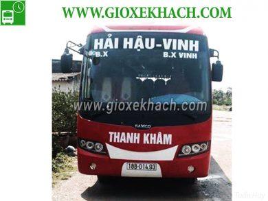 Xe khách tuyến Hải Hậu - Nam Định đi Vinh - Nghệ An nha xe Thanh Khâm