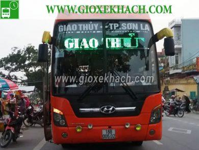 Xe khách tuyến Giao Thủy - Nam Định đi Sơn La nhà xe Duy Duy
