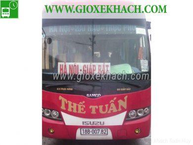 Xe khách tuyến Trực Phú - Hải Hậu đi Giáp Bát nhà xe Thế Tuấn
