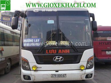 Xe khách tuyến Thủy Điện Lai Châu - Mường Lay đi Mỹ Đình nhà xe Lưu Anh