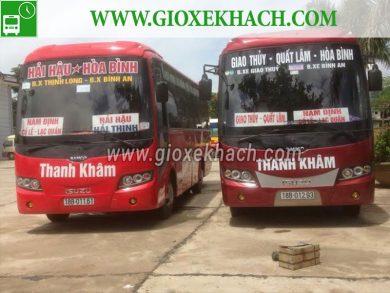 Xe khách tuyến Quất Lâm - Giao Thủy đi Hòa Bình nhà xe Thanh Khâm