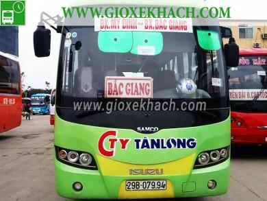 Xe khách tuyến Bắc Giang đi bến xe Mỹ Đình Hà Nội công ty Tân Long