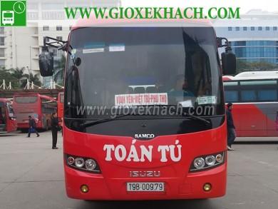 Xe khách tuyến Bản Nguyên - Việt Trì đi bến xe Mỹ Đình nhà xe Toàn Tú