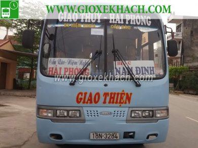 Xe khách tuyến Giao Thủy - Nam Định đi Hải Phòng nhà xe Lưu Huân
