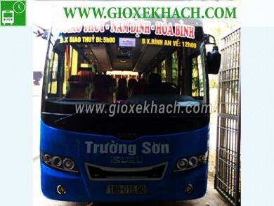 Xe khách tuyến Giao Thủy - Nam Định đi Hòa Bình nhà xe Trường Sơn