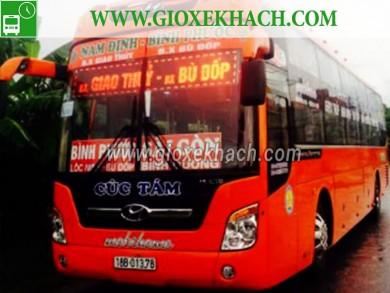 Xe khách từ Giao Thủy - Nam Định đi Bình Dương nhà xe Cúc Tám
