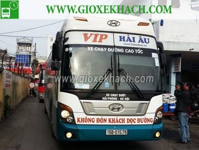 Xe khách tuyến Hải Phòng đi Hà Nội, Hải Phòng đi Nam Định nhà xe Hải Âu