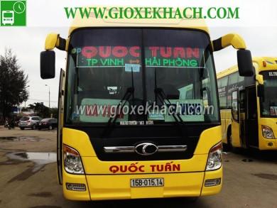 Xe khách tuyến Hải Phòng đi thành phố Vinh, Nghệ An nhà xe Quốc Tuấn