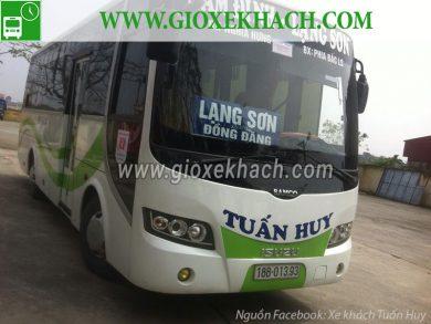 Xe khách tuyến Nghĩa Hưng - Nam Định đi Lạng sơn nhà xe Tuấn Huy
