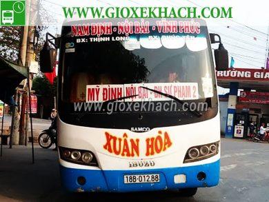 Xe khách tuyến Hải Hậu - Nam Định đi bến xe Phúc Yên nhà xe Xuân Hòa