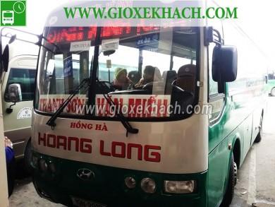 Xe khách tuyến Văn Miếu - Thanh Sơn đi Mỹ Đình nhà xe Hoàng Long