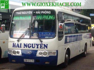 Xe khách tuyến Thái nguyên đi Cầu Rào - Hải Phòng nhà xe Hải Nguyên