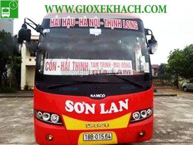 Xe khách tuyến Hải Hậu - Nam Định đi Đh Nông Nghiệp, Gia Lâm nhà xe Sơn Lan