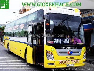Xe khách tuyến Giao Thủy - Hải Hậu - Nam Đinh đi Cà Mau nhà xe Ngọc Trìu