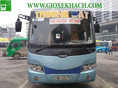 Xe khách tuyến Hà Nội - Mỹ Đình đi Thái Nguyên nhà xe Trường Đạt