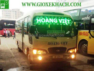Xe khách tuyến Tân Sơn - Phú Thọ đi Mỹ Đình nhà xe Hoàng Việt
