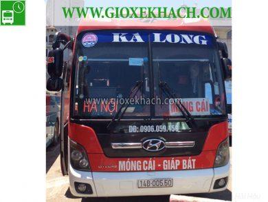 Xe khách tuyến Móng Cái - Quảng Ninh đi Giáp Bát nhà xe Ka Long