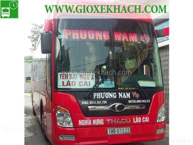 Xe khách tuyến Nghĩa Hưng - Nam Định đi Bảo Hà - Lào Cai nhà xe Phương Nam