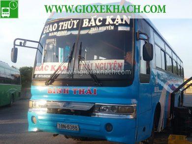 Xe khách tuyến Giao Thủy đi Bắc Kạn chuyến sớm 4h30 nhà xe Bình Thái