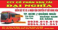 Xe khách giường nằm Hồ Chí Minh đi Quảng Ngãi - Quảng Nam  - Đà Nẵng nhà xe Đại Ngĩa